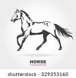 horse. raster version. | Shutterstock . vector #329353160