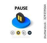 pause icon  vector symbol in...