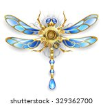Mechanical Dragonfly Wings Wit...