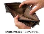 concept of having no money ... | Shutterstock . vector #32936941