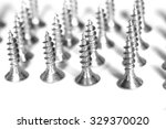 iron screw on white background.  | Shutterstock . vector #329370020