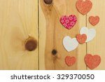 decorative stylized hearts with ... | Shutterstock . vector #329370050