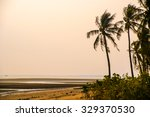 tropical resort with beach and... | Shutterstock . vector #329370530