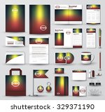 corporate identity template set.... | Shutterstock .eps vector #329371190