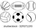 basketball ball  baseball ball  ...   Shutterstock . vector #329371193