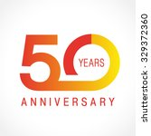 50 years old celebrating... | Shutterstock .eps vector #329372360