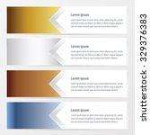 Vector Horizontal Banner  Gold...