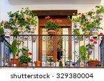 traditional european balcony... | Shutterstock . vector #329380004
