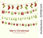 christmas greeting card with... | Shutterstock .eps vector #329382164
