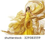 fashion model dress  woman in... | Shutterstock . vector #329383559