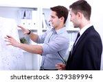 business people talking on... | Shutterstock . vector #329389994