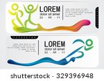 running ticket  abstract design. | Shutterstock .eps vector #329396948