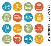 transport line icons | Shutterstock . vector #329397614