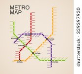 metro or subway map design... | Shutterstock .eps vector #329397920