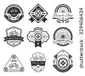 bicycle labels  emblems  logo... | Shutterstock .eps vector #329406434