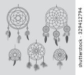 dream catcher | Shutterstock . vector #329412794