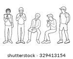 set of human activity in public ...   Shutterstock .eps vector #329413154