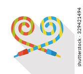 birthday party horn flat icon | Shutterstock .eps vector #329421494