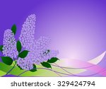 card with lilac flowers | Shutterstock .eps vector #329424794