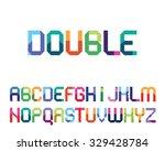 color geometrical  font... | Shutterstock .eps vector #329428784