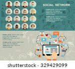 global social network abstract... | Shutterstock .eps vector #329429099