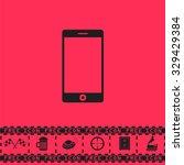 smartphone. black flat vector...