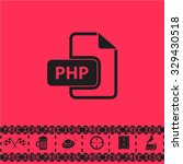 php file extension. black flat...