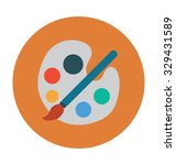 paint palette colored vector... | Shutterstock .eps vector #329431589