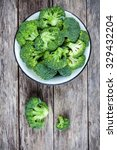 fresh raw organic broccoli in... | Shutterstock . vector #329432204