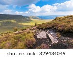 Stunning View of Mountains in national park Breckon Beacons in Wales.