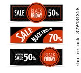 black friday horizontal vector... | Shutterstock .eps vector #329434358