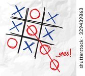 tic tac toe  think outside the... | Shutterstock .eps vector #329439863