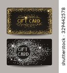 shiny gold and silver gift cards | Shutterstock .eps vector #329442578