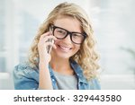 portrait of smiling woman... | Shutterstock . vector #329443580