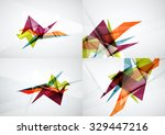 set of angle and straight lines ... | Shutterstock . vector #329447216
