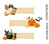 Vector Halloween Magic Banners...