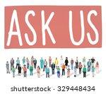 ask us contact information... | Shutterstock . vector #329448434