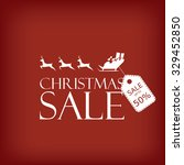 christmas sale poster. holiday... | Shutterstock .eps vector #329452850