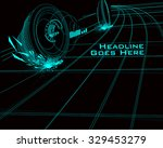 speed design template with tron ... | Shutterstock .eps vector #329453279