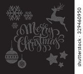 christmas dots  elements.... | Shutterstock .eps vector #329460950
