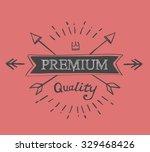 hand lettered catchword premium ... | Shutterstock . vector #329468426