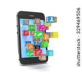 icon app fall in smart phone | Shutterstock . vector #329469506