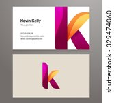 modern letter k business card... | Shutterstock .eps vector #329474060