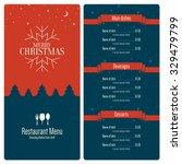 special christmas festive menu... | Shutterstock .eps vector #329479799