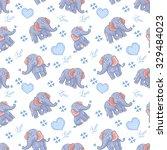 seamless elephant kids pattern | Shutterstock . vector #329484023