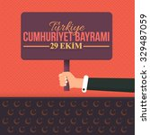 republic of turkey national... | Shutterstock .eps vector #329487059