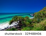 beach view with a tree in... | Shutterstock . vector #329488406