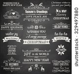 christmas label and design... | Shutterstock .eps vector #329497880