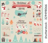 christmas infographic set | Shutterstock .eps vector #329498066