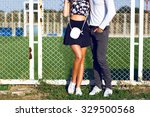fashion details  young hipster... | Shutterstock . vector #329500568